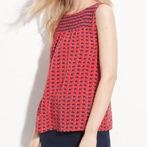 Marc by Marc Jacobs Heart Print Pleated Blouse